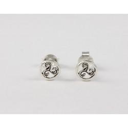 Ohrstecker keltische Triskele klein Echt Silber
