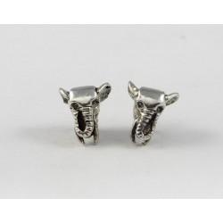 Ohrstecker Elefantenkopf Silber