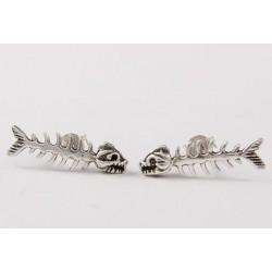 Ohrstecker Fischgräte groß (1) Silber