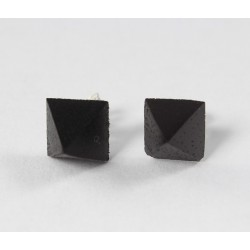 Ohrstecker Holz Pyramide mit Silberstift