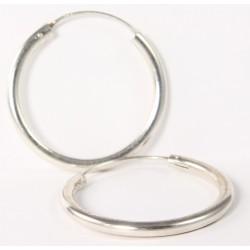 Creole Silber Schlicht 3X35mm