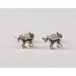 Ohrstecker Einhorn klein schlicht Echt Silber