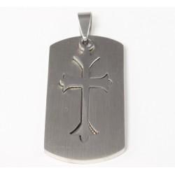 Kettenanhänger Kreuz (1) zweiteilig, Edelstahl