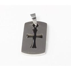 Kettenanhänger Kreuz (5) zweiteilig, Edelstahl