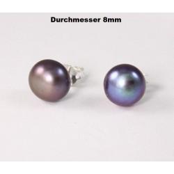 Ohrstecker Perle bunt schimmernd