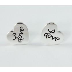 "Ohrstecker Herz ""Love"" Silber"