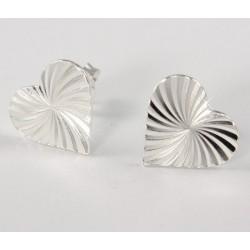 Ohrstecker Herz (8) Silber