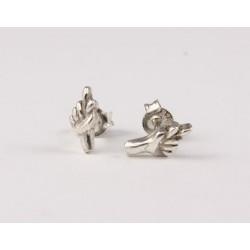Ohrstecker Handzeichen Glück Echt Silber