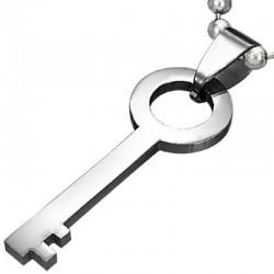 Kettenanhänger Schlüssel Edelstahl