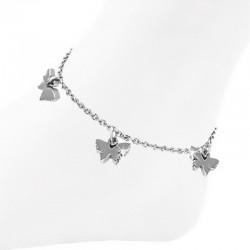Fußkettchen mit Schmetterling Edelstahl