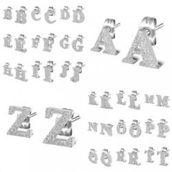 Ohrstecker Buchstaben, Alphabet komplett, sandgestrahlt ,Edelstahl