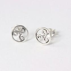 Ohrstecker keltische Triskele Echt Silber (925-Silber)