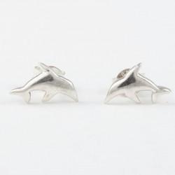 Ohrstecker Delfin (2) Echt Silber