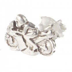 Motorrad Ohrstecker  aus Echt Silber