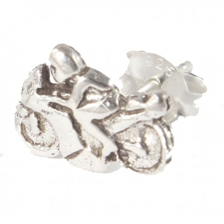 Ohrstecker  Motorrad Echt Silber