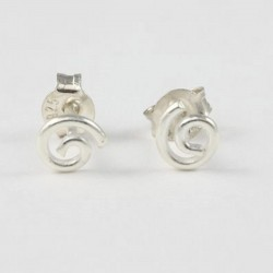 Silber Ohrstecker Spirale