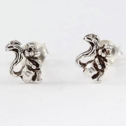 Echt Silber Ohrstecker Eichhörnchen