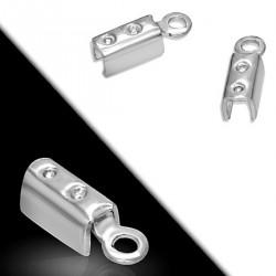 Endstücke für Lederbänder 2 mm aus Edelstahi für Ketten, Armbänder