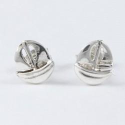 Ohrstecker Segelboot Silber