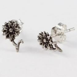 Ohrstecker Blume Echt Silber
