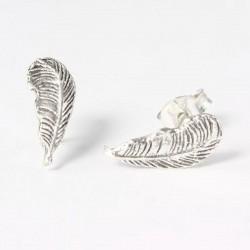 Ohrstecker Feder, Indianer-Feder Echt Silber