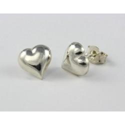 Silber Ohrstecker Herz groß