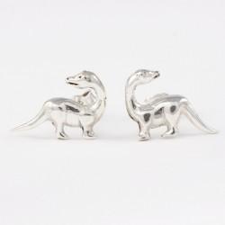 Silber Ohrstecker Dinosaurier groß