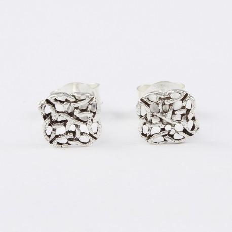 Ohrstecker Keltische Knoten Echt Silber