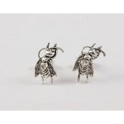 Silber Ohrstecker Ameise  stehend