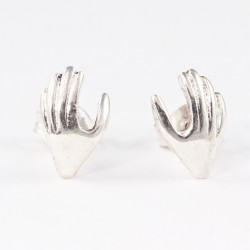 Silber Ohrstecker Hand