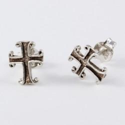 Ohrstecker Kreuz aus Echt Silber