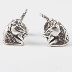 Ohrstecker Einhornkopf Echt Silber