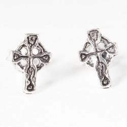 Ohrstecker keltisches Kreuz Silber