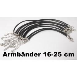 Lederarmbänder, Fußkettchen,Echt Leder Ø 3 mm, in Längen von 16 - 25 cm, Neu