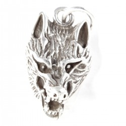 Kettenanhaenger Wolf Silber
