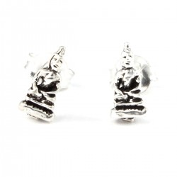Ohrstecker Buddha klein Echt Silber