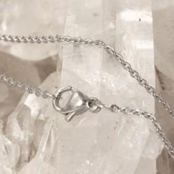 Edelstahl Kette Halskette 44 cm/1 mm Neu