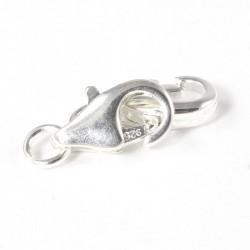 Karabinerhaken, Echt Silber 10 X 5 mm, Verschluss zum Schmuck basteln Neu