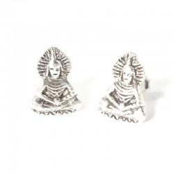 Ohrstecker Buddha groß Echt Silber