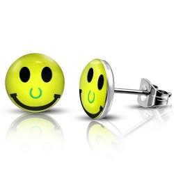 Smile Cabochon Ohrstecker Edelstahl