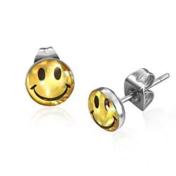 Smile  schimmernd Cabochon Ohrstecker Edelstahl