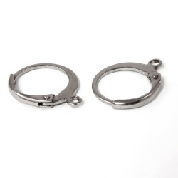 Klapp-Brisuren rund, geschlossene Ohrhaken aus Edelstahl