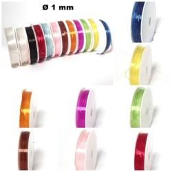 Elastischer Nylonfaden Schmuckfaden um Basteln, verschiedene Farben