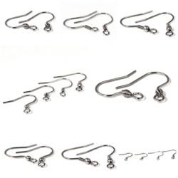 Ohrhaken offen, Chirurgen Edelstahl, Fischhaken für Ohrhänger  - 4 Modelle