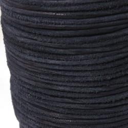 Lederbaender Blau Echt Büffelleder - Wildleder matt Ø 2 mm