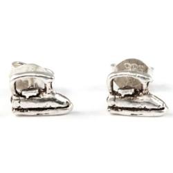 Ohrstecker Bügeleisen Silber