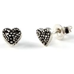 Silber Ohrstecker Herz klein