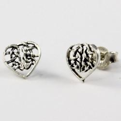 Echt Silber Ohrstecker Herz