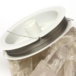 Schmuckdraht, Edelstahl-Seide Ø 0,45 mm, 50 m Rolle zum Basteln für Schmuck
