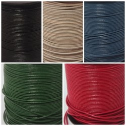 Lederbänder Echt Ziegenleder - in 4 Farben - Ø 1 mm / 1-100 Meter am Stück